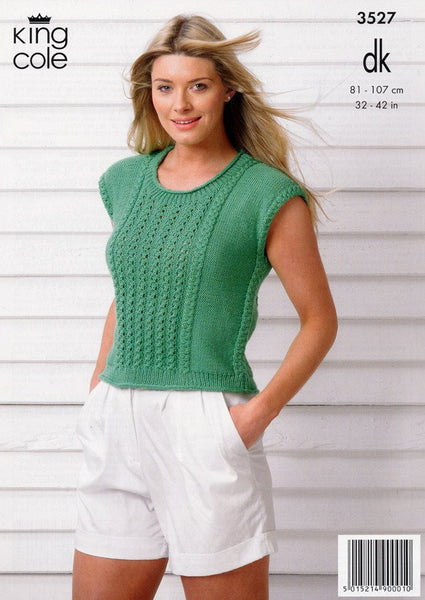 Cardigan and Top in King Cole Smooth DK (3527)-Deramores