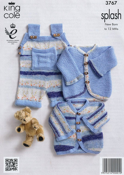 Baby Set in King Cole Splash DK and King Cole Big Value Baby DK (3767)-Deramores