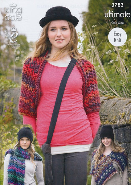 Ladies Wrap, Scarf and Shrug in King Cole Ultimate (3783)-Deramores