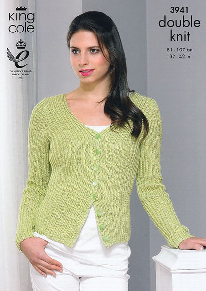 Cardigan and Top in King Cole Smooth DK (3941)-Deramores