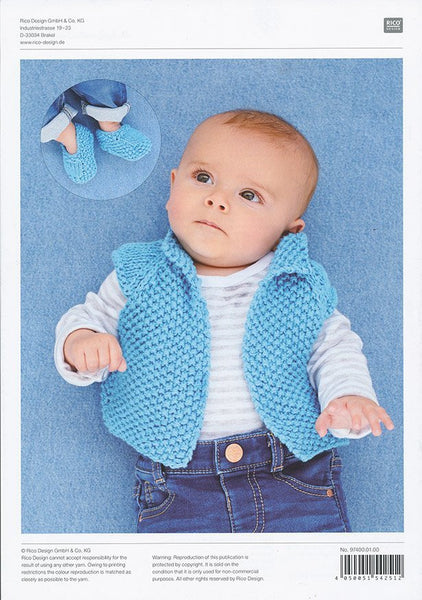 Waistcoat and Booties in Rico Design Baby Cotton Soft DK (97400)