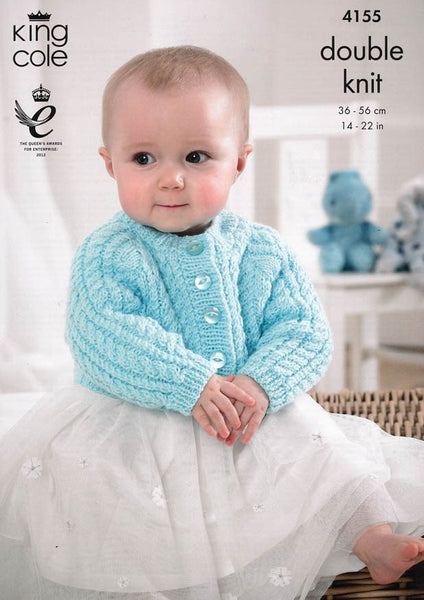 Cardigans in King Cole Baby DK (4155)-Deramores