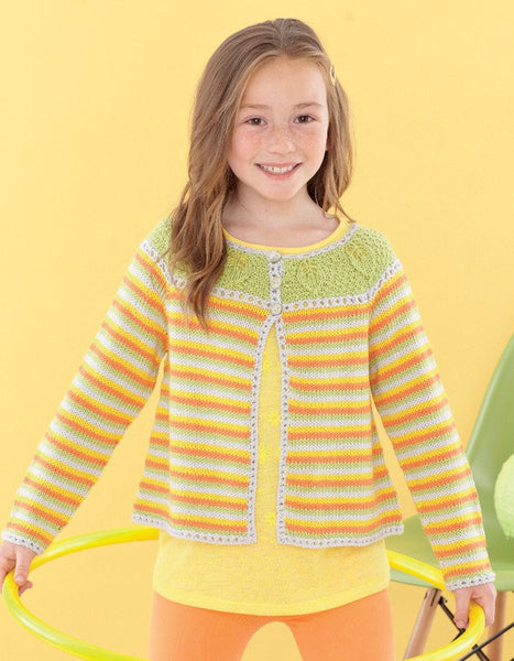 Babies and Girls Round Neck Cardigans in Sirdar Snuggly Baby Bamboo DK (4624)