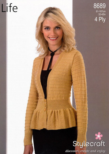 Jacket in Stylecraft Life 4 Ply (8689)-Deramores
