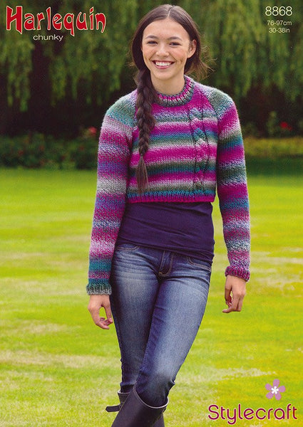 Andy Sweater in Stylecraft Harlequin Chunky (8868)-Deramores