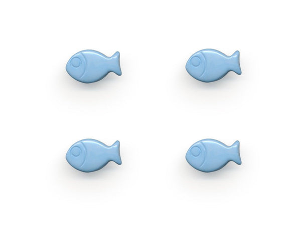 Fish Shaped Buttons - Blue - 439