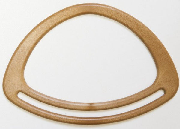 Oval Wood Colour Bag Handles, 20cm x 14cm (pair)
