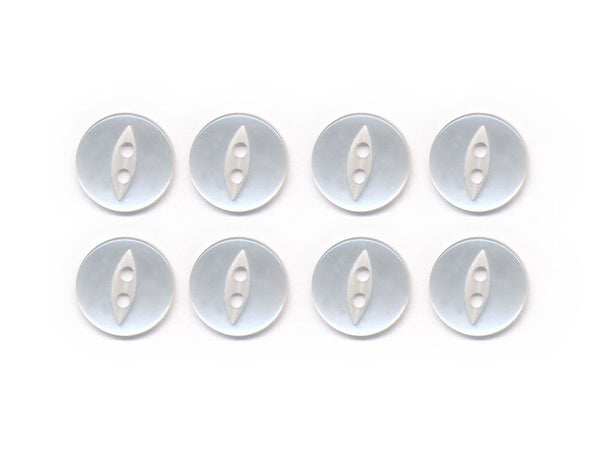 Fish-Eye Buttons - Clear - 006