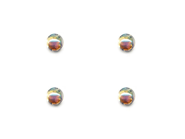Domed Pearl Effect Buttons - Clear - 082