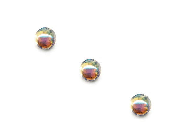 Domed Pearl Effect Buttons - Clear - 083