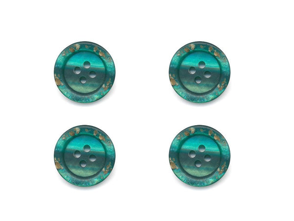 Rimmed Broken Paint Effect Buttons - Green - 223