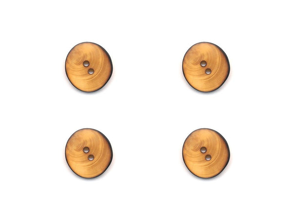 Round Wooden Burnt Effect Buttons - 253