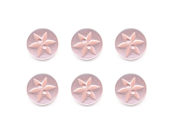 Round Flower Effect Buttons - Pink - 367