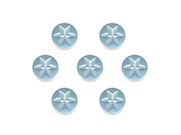 Round Flower Effect Buttons - Blue - 076