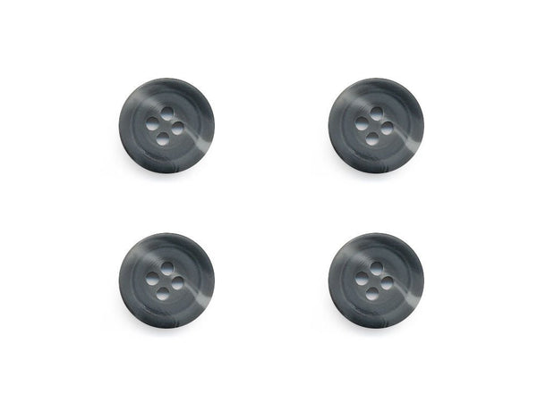 Round Rimmed Two-Tone Buttons - Grey - 540