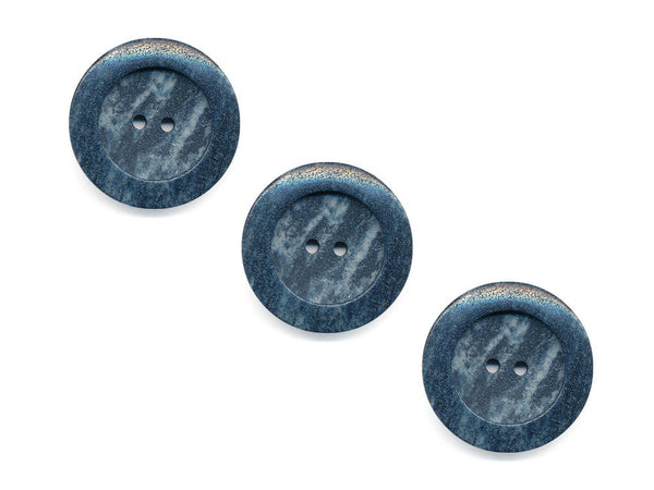 Round Stone Effect Buttons - Grey - 961