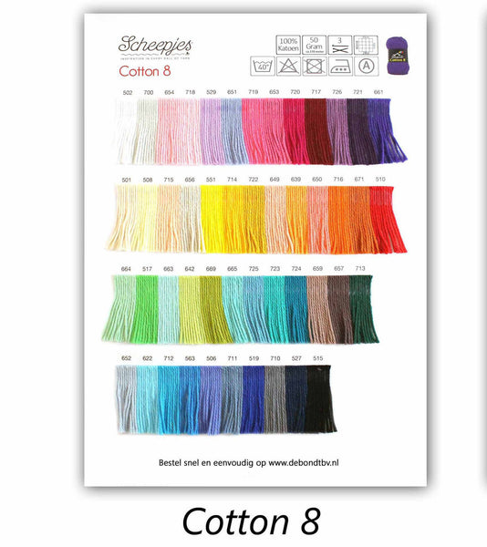 Scheepjes Cotton 8 Shade Card