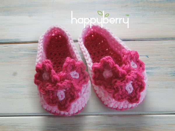 Crochet Flower Booties by HappyBerry - Digital Version