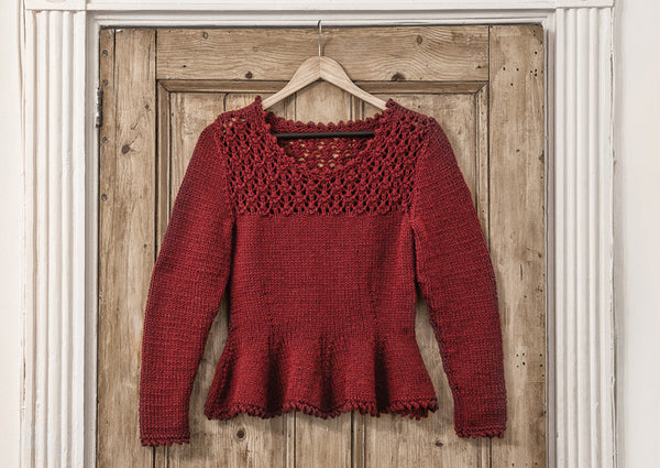 Peplum Jumper in Deramores Vintage Chunky (2009) Digital Version
