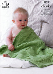 Babies Blankets in King Cole Comfort Chunky (3393)