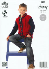 Boy's Jacket in King Cole Comfort Chunky (3993)