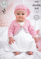 Baby Cardies and Beret in King Cole Cherish and Cherished DK (4193)