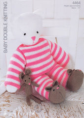 Kitty In Pyjamas in Hayfield Baby DK (4464)