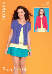 Womens and Girls Cardigans in Hayfield Fiesta DK (7286)