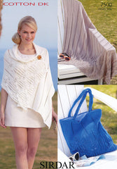 Blanket, Wrap and Bag in Sirdar Cotton DK (7500)