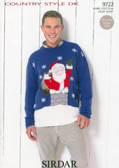 Santa Claus Sweater in Sirdar Country Style DK (9722)