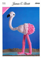 Flo the Flamingo in James C. Brett Flutterby (404)