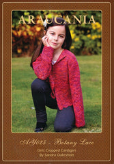 Girls Cropped Cardigan by Sandra Oakeshott in Araucania Botany Lace (AY025)