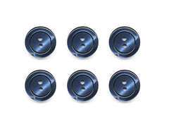 Pearlescent Rimmed Round Buttons - Blue - 428