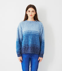 Tonal Stripe Sweater in Debbie Bliss Fine Donegal and Angel (DB026)