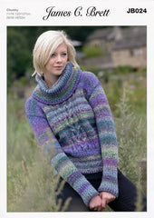 Sweater in James C. Brett Marble Chunky (JB024)