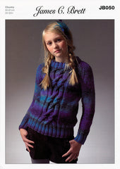 Sweater in James C. Brett Marble Chunky (JB050)
