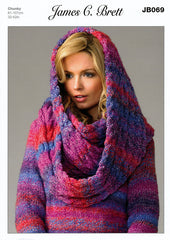 Sweater & Snood/Scarf in James C. Brett Marble Chunky (JB069)