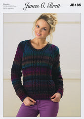 Sweater in James C. Brett Marble Chunky (JB185)