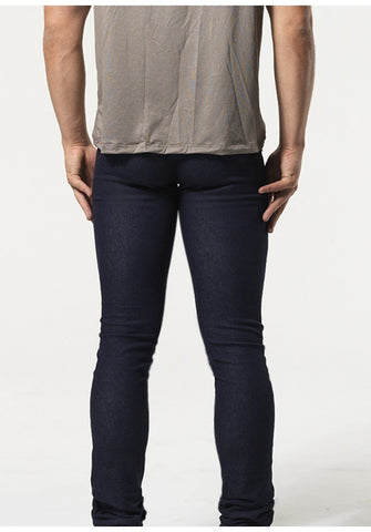 CORBEN: ULTRA LOW-RISE DENIM LEGGINGS