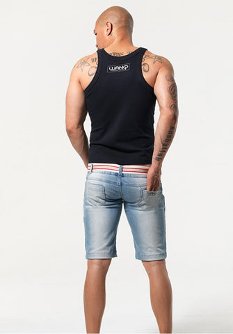 GRIFFIN: SUPER LOW-RISE DENIM SHORTS