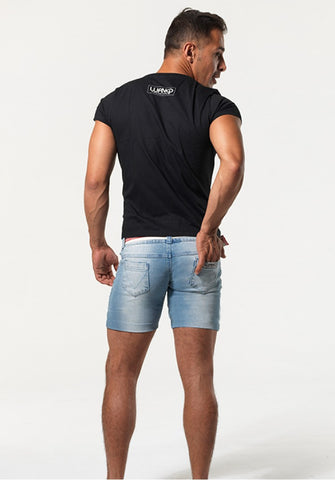 BELVOIR: SUPER LOW-RISE DENIM SHORTS