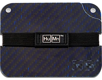 Blue - Carbon Fiber HuMn Wallet 2 RFID Blocking