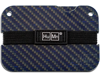 Blue - Carbon Fiber HuMn Mini RFID Blocking