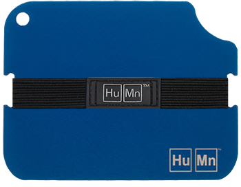 Blue - HuMn Wallet 2 RFID Blocking