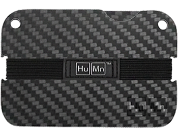 Black - Carbon Fiber HuMn Mini RFID Blocking