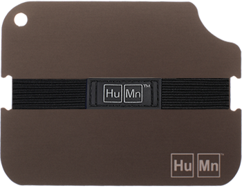 Grey - HuMn Wallet 2 RFID Blocking