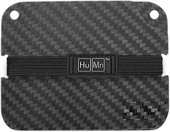 Black - Carbon Fiber HuMn Wallet 2 RFID Blocking