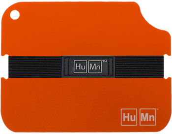 Orange - HuMn Wallet 2 RFID Blocking