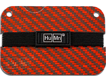 Red - Carbon Fiber HuMn Mini RFID Blocking