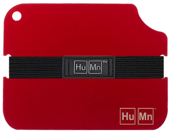 Red - HuMn Wallet 2 RFID Blocking